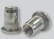 SHEREX UPO RS LARGE FLANGE AND UFO RS COUNTERSUNK HEAD KNURLED METRIC SERIES